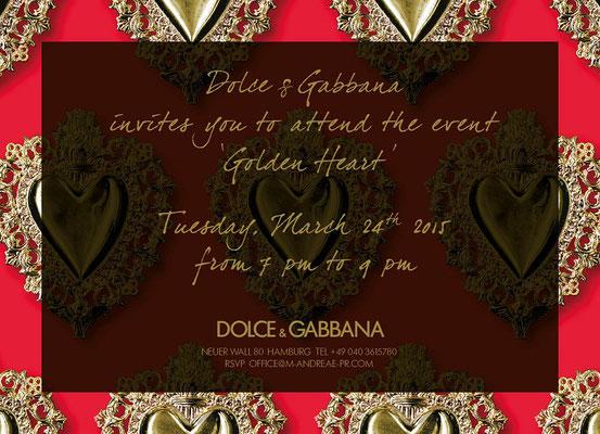 Dolce & Gabbana, Golden Heart Collection Hamburg Store