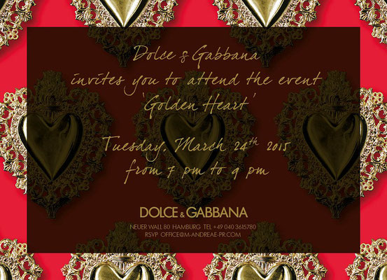 Dolce & Gabbana, Golden Heart Collection Hamburg Store