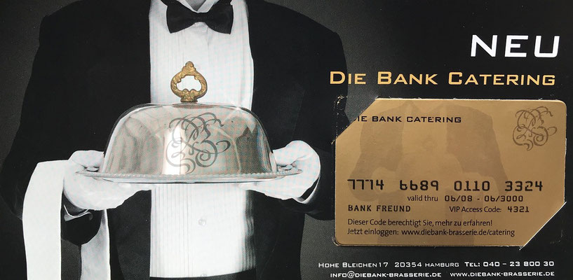 DIE BANK Brasserie & Bar, Restaurant Hamburg
