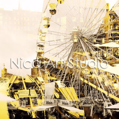 Big Wheel Lüneburg in yellow, 2016, 20 x 20 cm, print on photopaper