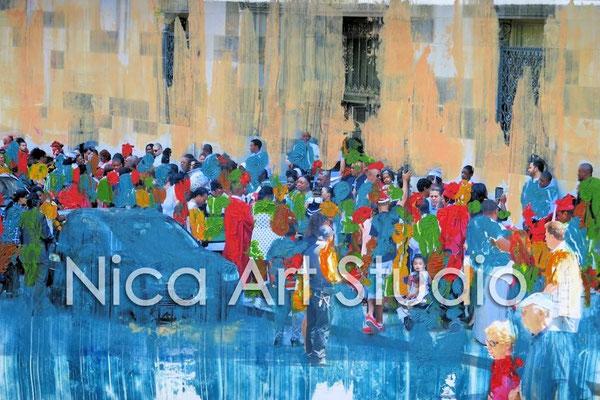 Graduates, 2014, 30 x 20 cm, photograph with oil paint