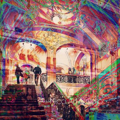 Laisz hall, 2019, 40 x 40 cm, combined motion blur photography, digital art