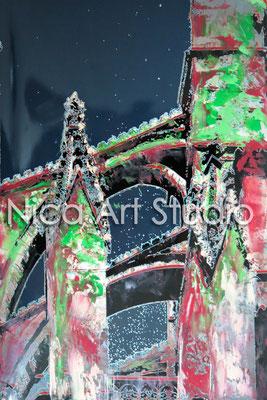 La Seu, 2014, 20 x 30 cm, Fotografie mit Ölfarbe