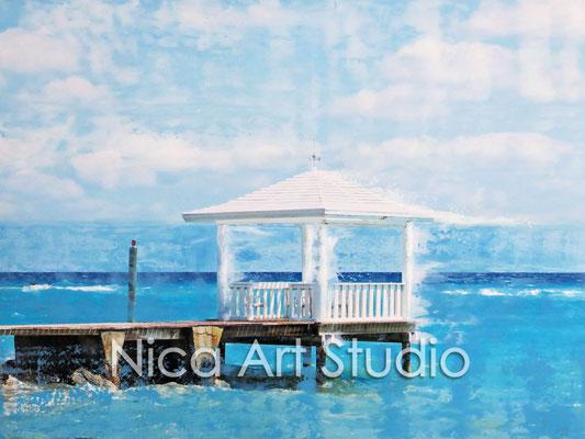 Pavillion, 2015, 40 x 30 cm, photograph with oil paint