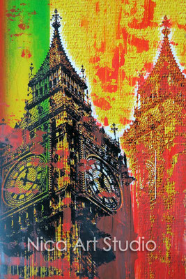 Big Ben, 2015, 20 x 30 cm, photograph with oil paint