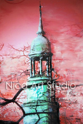 Michel mit rot, 2015, 20 x 30 cm, Fotografie mit Ölfarbe