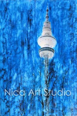 Fotografie mit Ölfarbe, 2015, 20 x 30 cm, Fotografie mit Ölfarbe