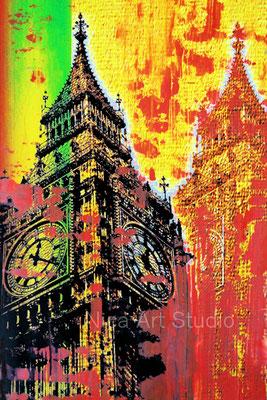 Big Ben, 2015, 20 x 30 cm, Fotografie mit Ölfarbe