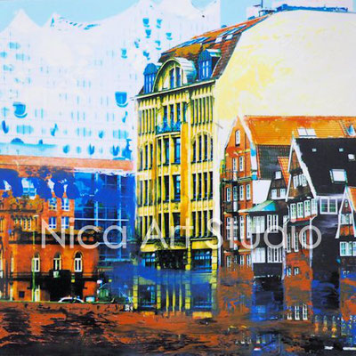 Nikolaifleet & Phili, 2016,  20 x 20 cm, photography with oil color