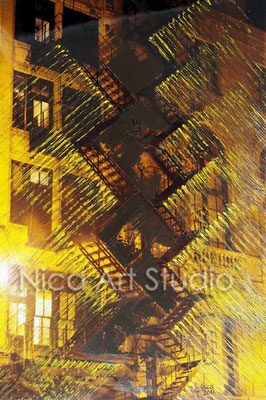 Fireladder, 2017, 20 x 30 cm, photography with oil color