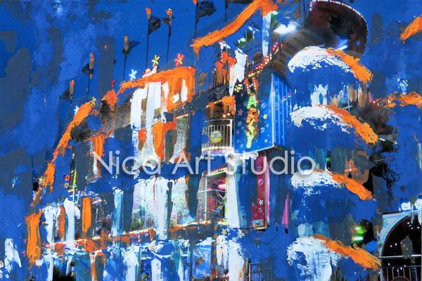 Achterbahn, 2015, 30 x 20 cm, Fotografie mit Ölfarbe