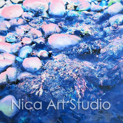 Stones, 2015, 20 x 20 cm, photograph with oil paint