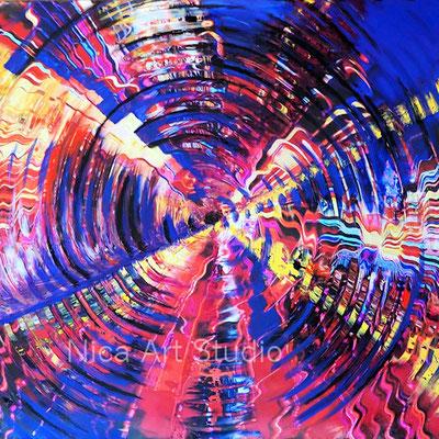 Swirled, 2019, 30 x 30 cm, Fotografie mit Ölfarbe
