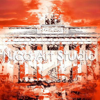 B1.3, Brandenburger Tor rostrot, 2015, Print