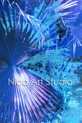 Palmenwedel, 2015, 20 x 30 cm, Fotografie mit Ölfarbe