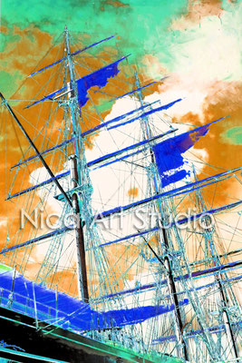 Sailing boat, 2015, 2 : 3 format, print