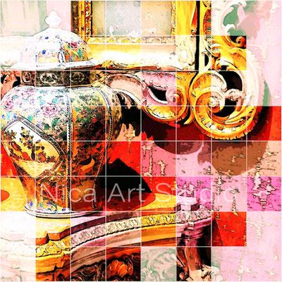 Rokoko Detail, 2017, 30 x 30 cm, Alu Dibond Print