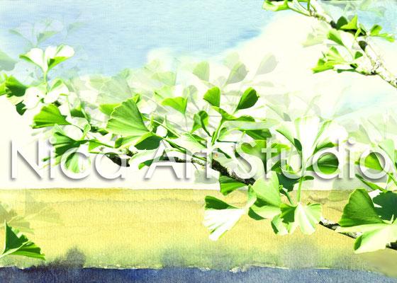 Ginkgo, 2014, 40 x 30 cm, print on metallic photobase paper