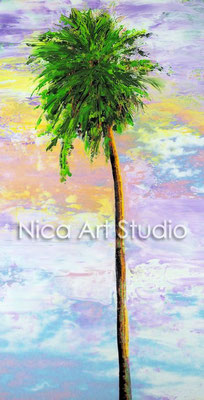 Palmtree, 2016, 15 x 30 cm, photography with oil color, in the gallery Kunst und Rahmen