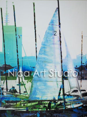 Sailing on the Alster, 2016,  3 : 4 format, print