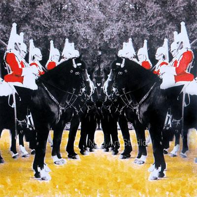 Horseguards, 2015, 20 x 20 cm, Mixed Media Print auf Alu Dipond
