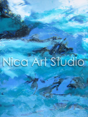 Wasser II, 2014, 20 x 30 cm, Fotografie mit Ölfarbe