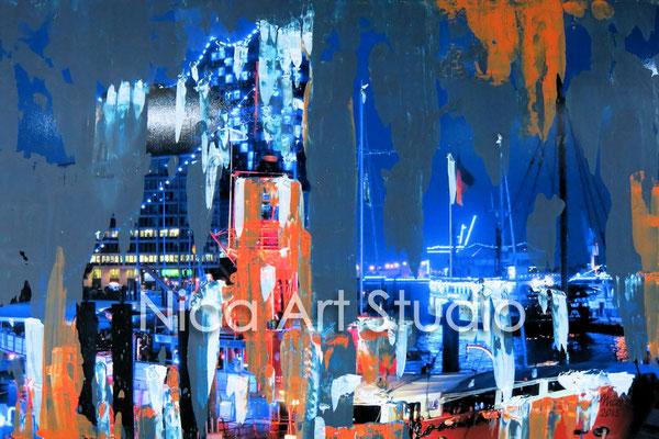Blueport mit Feuerschiff, 2015, 3 : 2 Format, Print