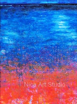 Im Springbrunnen, 2019, 40 x 55 cm, Fotografie mit Acrylmalerei