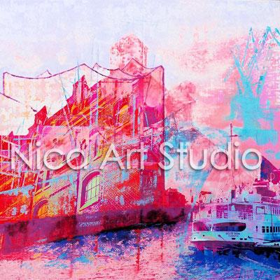 Hafenklang mit Elphilharmonie und Cap San Diego, 2015, 1 : 1 Print