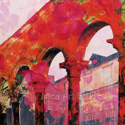Diocletian's Palace, 2020, 20 x 20 cm, photography with oil color