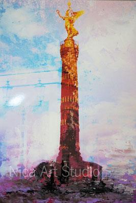 B53, Siegessäule, 2017, 20 x 30 cm, Fotografie mit Ölfarbe