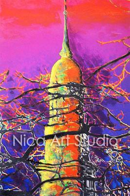 Michel glühend, 2015, 20 x 30 cm, Fotografie mit Ölfarbe