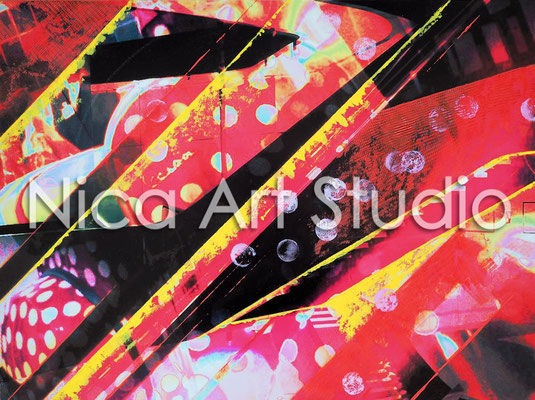Inside Out, 2015, 60 x 45 cm, Fotografie auf Alu Dibond mit Ölfarbe
