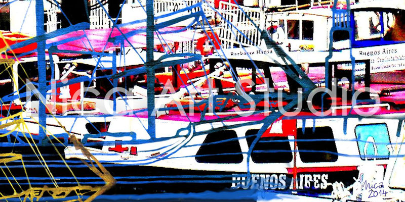 Boats, 2014, 60 x 30 cm, print behind acrylic glass
