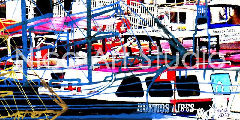 Boats, 2014, 60 x 30 cm, print behind acrylic glass