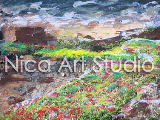 Am Hang, 2015, 30 x 20 cm, Fotografie mit Ölfarbe