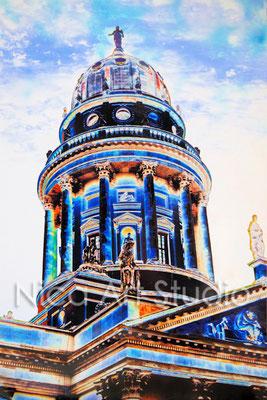 B33, Deutscher Dom, 2017, 20 x 30 cm, Fotografie mit Ölfarbe