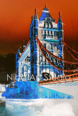 Towerbridge negativ, 2015, 30 x 40 cm, Print auf Fotopapier