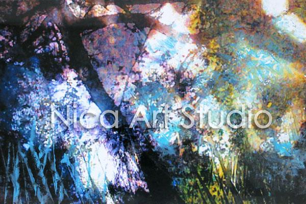 Wasser und Schatten, 2015, 30 x 20 cm, Fotografie mit Ölfarbe