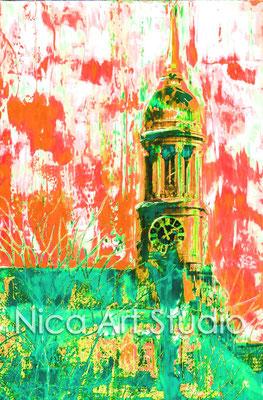 Michel orange-grün, 2015, 50 x 70 cm, Print auf Fotopapier