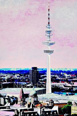 Hoheluft, 2019, 20 x 30 cm, Fotografie mit Ölfarbe