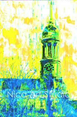 Michel blau-gelb, 2015, 50 x 70 cm, Print auf Fotopapier