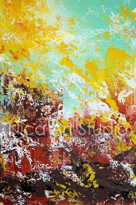 Sundown abstraction 1, 2017, 20 x 30 cm, photography with acrylic paint