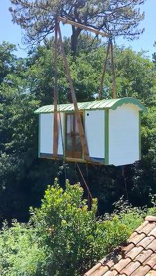 Levage roulotte - Jardin Boheme