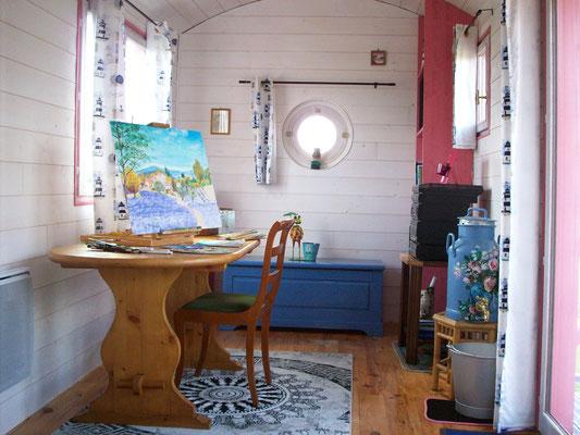 Roulotte Atelier de peinture / Studio de jardin - Jardin Boheme