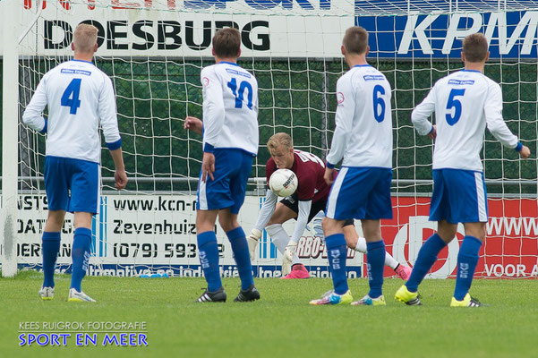 Wesley van der Molen houdt wederom de nul