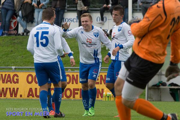 4-0 in de 68ste minuut, doelpuntenmaker Faybian Hertstein