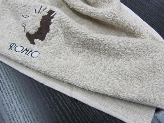 Asciugamano 50x90 colore Sabbia spugna di cotone senza minimi quantitativi anche con il tuo logo ricamato