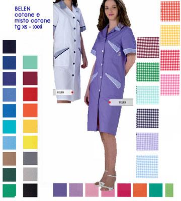 BELEN camice con bottoni, manica corta o lunga. Colori a Tua scelta
