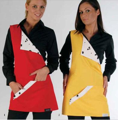 Ariell divise  da lavoro art. CENTOUNO copriabito monospalla - schiena coperta - taglia unica - colori giallo e rosso